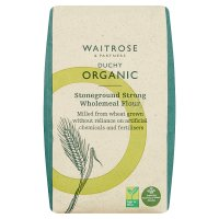 Waitrose Organic stoneground strong wholemeal bread flour