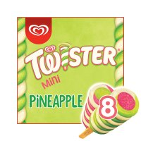Twister Mini pineapple, strawberry & lemon 8 pack ice cream lolly