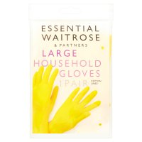 essential Waitrose household gloves, large - 2 pairs