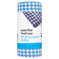 essential Waitrose all purpose cloths, roll of 50 cloths