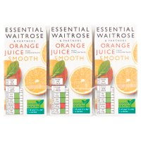 essential Waitrose pure orange juice, 6 pack