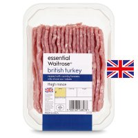 essential Waitrose British turkey thigh mince