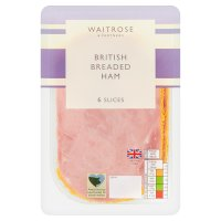 Waitrose British breaded ham, 6 slices