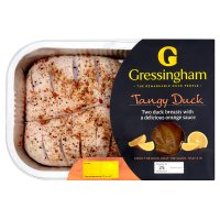 Gressingham duck breasts flllets with orange sauce