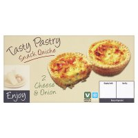 Tasty Pastry cheese & onion snack quiche