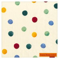Ideal Home Range: Emma Bridgewater polka dot napkins, 33cm  - pack of 20