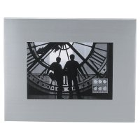 Insignia brushed metal photo frame - 5x7