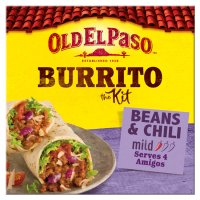 Old El Paso beef & bean chilli burritos