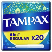 Tampax Regular Applicator Tampon Single 20PK