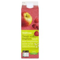 Waitrose juice apple & raspberry with elderflower