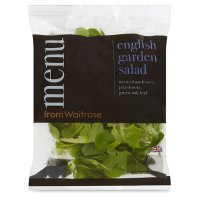 menu from Waitrose English garden salad