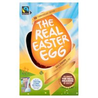 The Meaningful Chocolate Company Fairtrade The Real Easter Egg Luxury Milk Chocolate Egg 150g