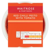 Waitrose red chilli pesto with tomato