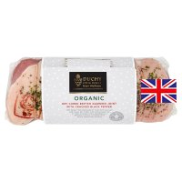 Duchy Originals from Waitrose Organic British unsmoked air dried with cracked black pepper bacon gammon joint