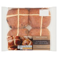 Waitrose wholemeal hot cross buns