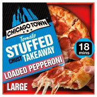 Chicago Town takeaway pepperoni sauce stuffed crust