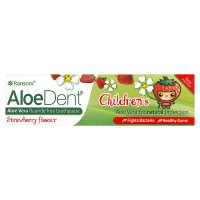 AloeDent childrens strawberry flavour toothpaste