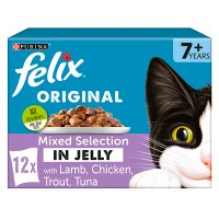 Felix senior mixed selection in jelly lamb rabbit tuna