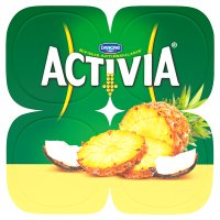 Activia pineapple & coconut yogurts