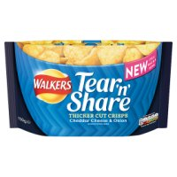 Walkers Tear'n'Share Thicker Cut Crisps Cheese & Onion