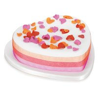 Fiona Cairns Flame Rose Petal Celebration Cake (Fruit)