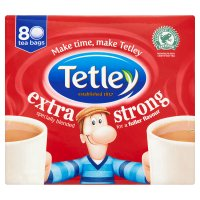 Tetley 80 tea bags extra strong