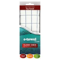 E-towel classic check tea towel
