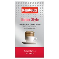 Rombouts italian style 10 individual filter filter coffees