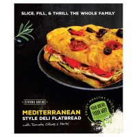 Strong Bread Deli Flat Bread Tomato, Olives & Herbs