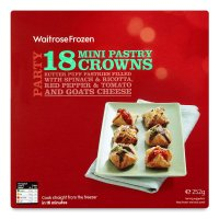 Waitrose 18 frozen mini pastry crowns