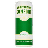 Southern Comfort with lemonade & lime