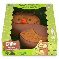 Waitrose Woodlands friends Ollie the owl cake