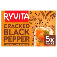 Ryvita Deli Cracked Black Pepper Crispbread