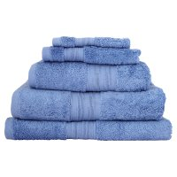 Waitrose Home Egyptian cotton sky bath sheet