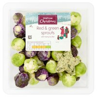 Waitrose red & green sprouts with herb butter