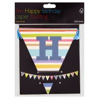 John Lewis happy birthday paper bunting