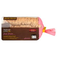 Waitrose LOVE life gluten free seeded sliced loaf