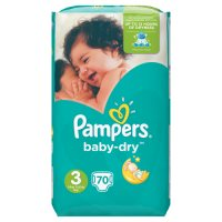 Pampers Baby Dry Size 3 Large 70 Nappies