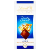Lindt Excellence crunchy caramel and milk chocolate