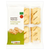 essential Waitrose 6 Cheese & Onion Rolls
