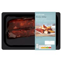 Waitrose BBQ kiln roasted Scottish salmon fillets