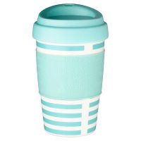 Waitrose Blue Stripe Coffee Cup