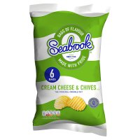 Seabrook crinkle cream cheese & chives crisps