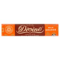 Divine, fairtrade orange milk chocolate