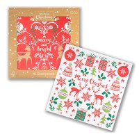 Waitrose Christmas Glitter Cards