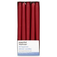 essential Waitrose red dinner candles