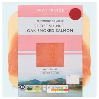 Waitrose Scottish oak smoked salmon minimum, 4 slices