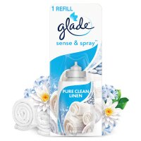 Glade sense & spray clean linen refill