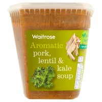 Waitrose pork, lentil & kale soup