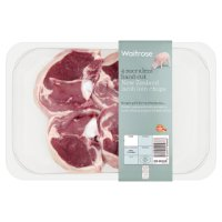 Waitrose 4 hand cut New Zealand lamb loin chops